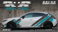 autoaufkleber brushdesign Autofolierung Aufkleber