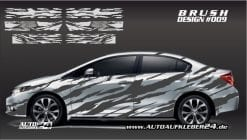 Autoaufkleber, Brushdesign, Autofolierung, Aufkleber, car wrap, Aufkleberdesign