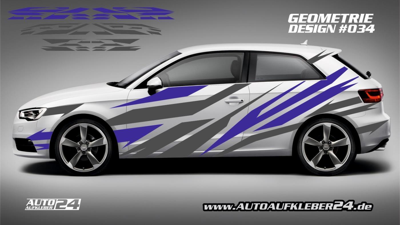 Geometrie Design 034 Autoaufkleber Set