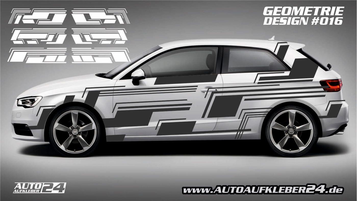Geometrie Design 016 Autoaufkleber Set