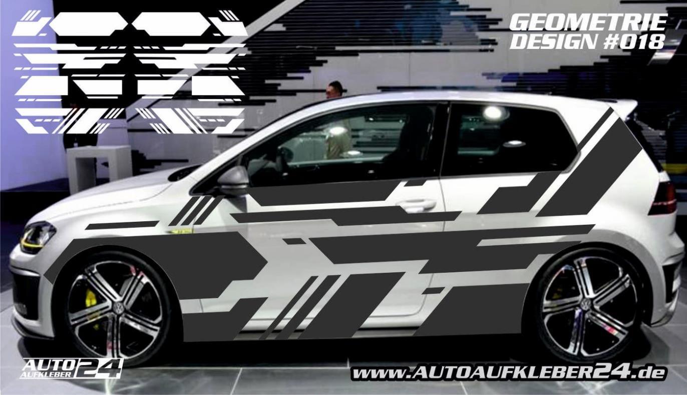 Geometrie Design 018 Autoaufkleber Set