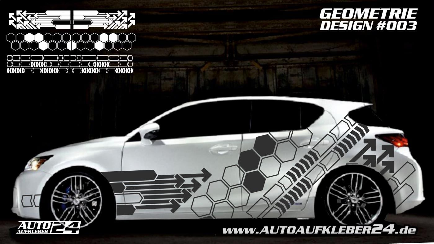 Geometrie Design 003 Autoaufkleber Set