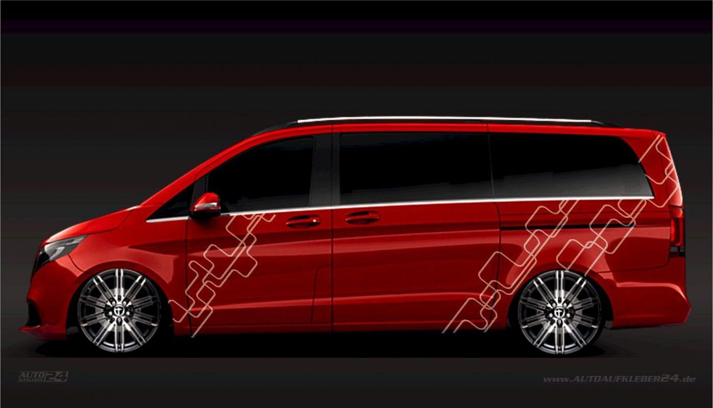 Geometrie Design #026 - Aufkleber / Seitenaufkleber / Autoaufkleber Mercedes Vito