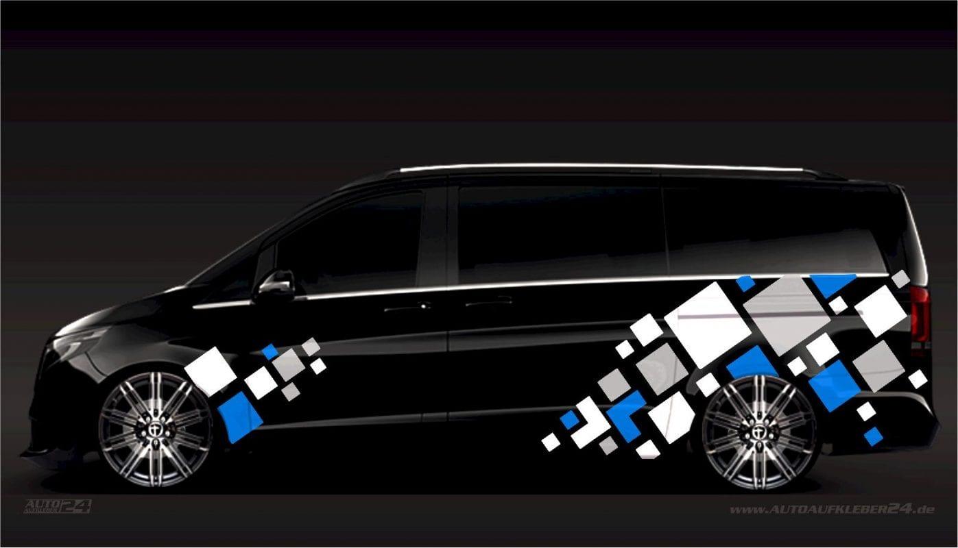 Geometrie Design #023 - Aufkleber / Seitenaufkleber / Autoaufkleber Mercedes Vito