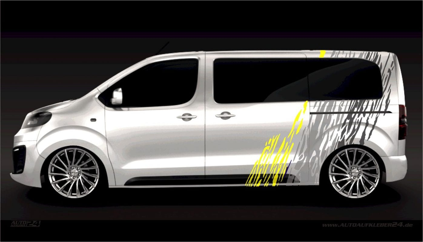 Brush Design #020 - Aufkleber / Seitenaufkleber / Autoaufkleber - Opel Zafira Life Movano Vivaro Combo