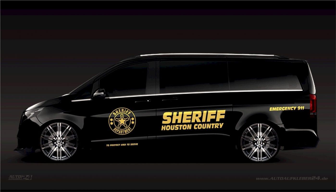 Sheriff Aufkleber / Seitenaufkleber - Mercedes Vito, Vaneo, V-Klasse