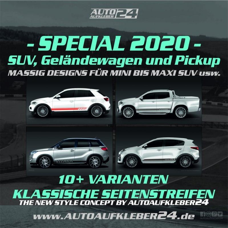 Car Wrap Designs für SUV, Geländewagen und Pickup