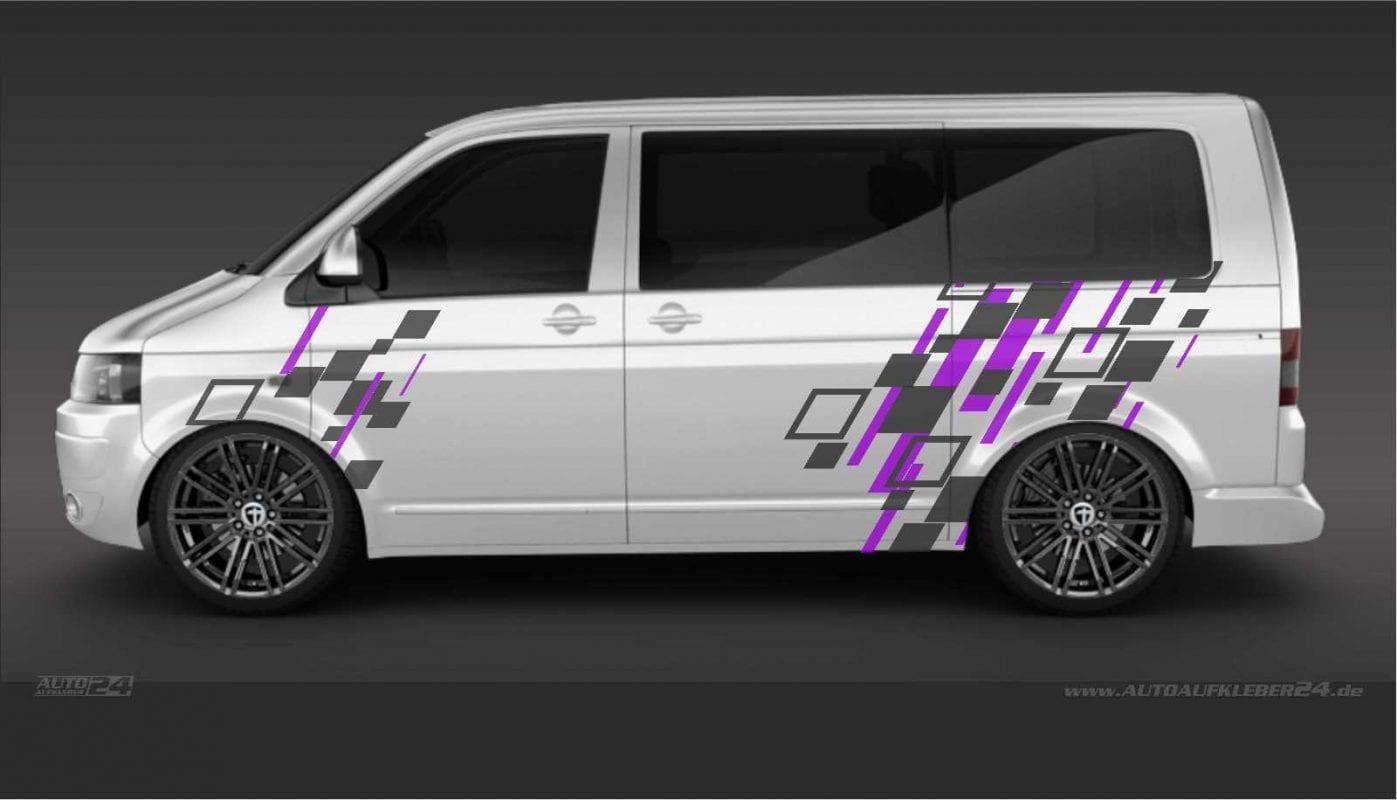 Geometrie Design #048 -Aufkleber / Seitenaufkleber / Autoaufkleber Volkswagen VW Transporter