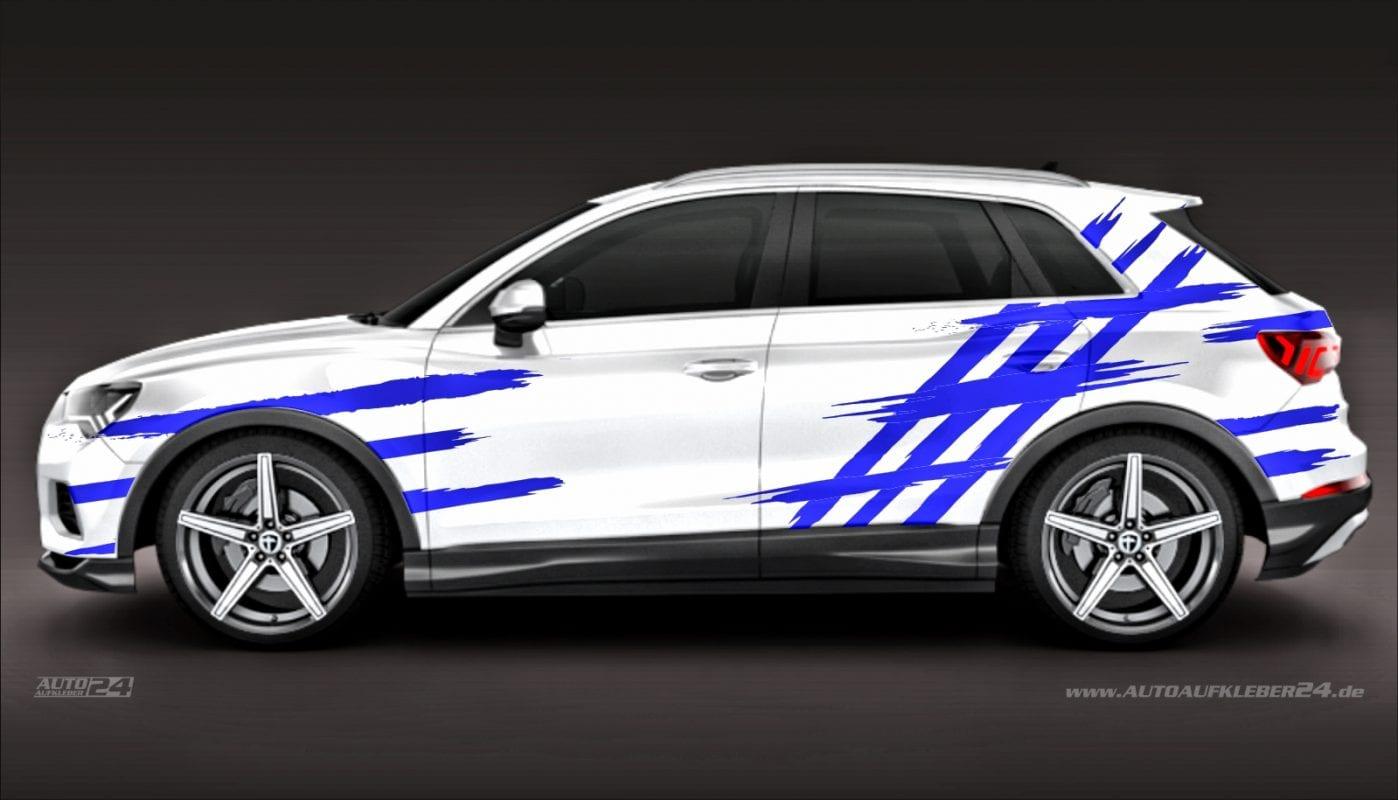 Brush Design #006 - Aufkleber / Seitenaufkleber / Autoaufkleber SUV Audi Q1 Q2 Q3 Q4 Q5 Sline