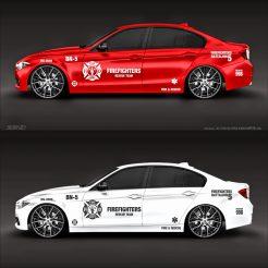 Firefighters - Feuerwehr Autoaufkleber Seitenaufkleber