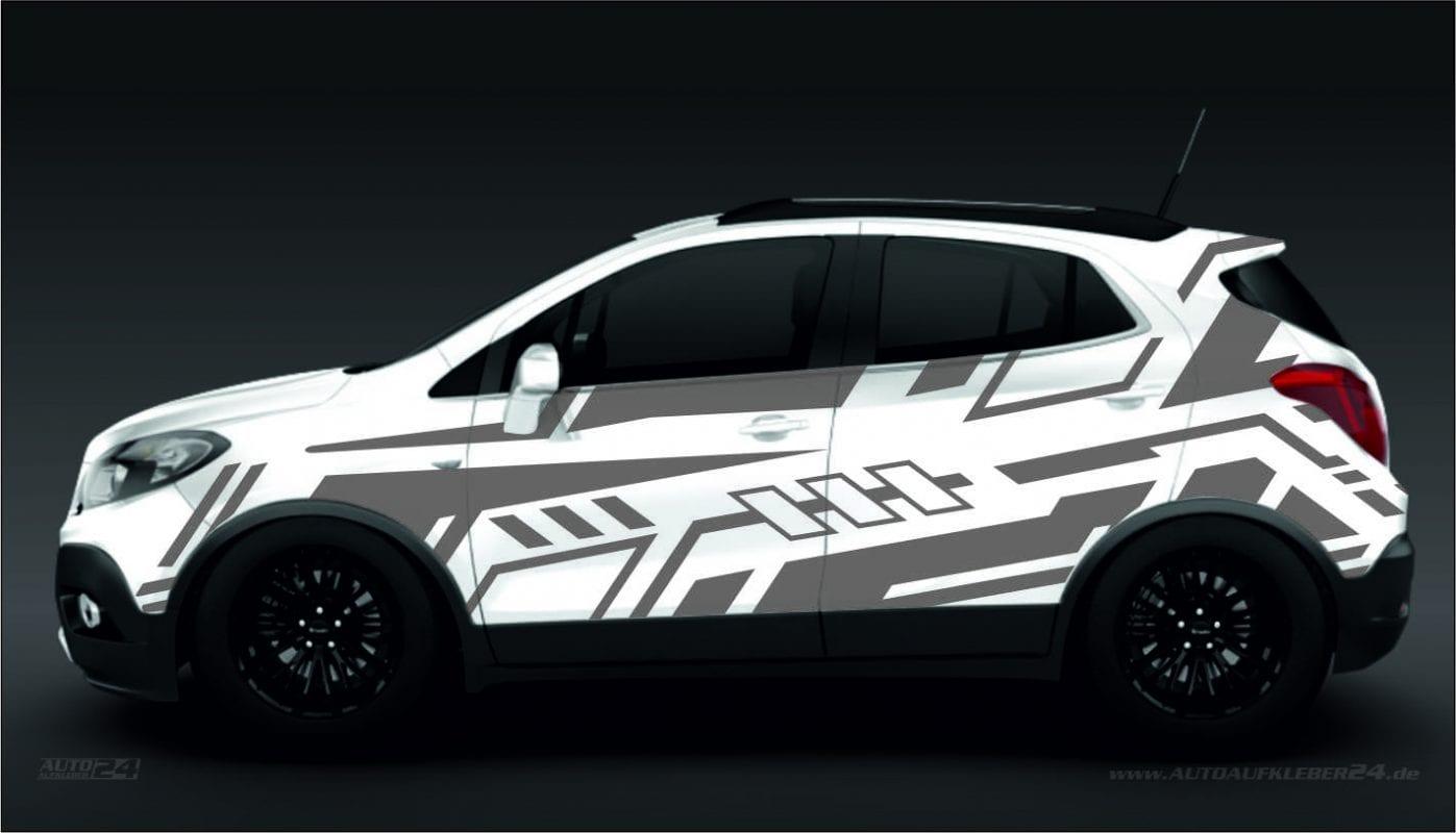 Geometrie Design #031 - Aufkleber / Seitenaufkleber / Autoaufkleber SUV Opel Mokka Grandland Crossland