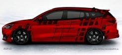 Ford Focus ST Turnier Autoaufkleber Seitenaufkleber