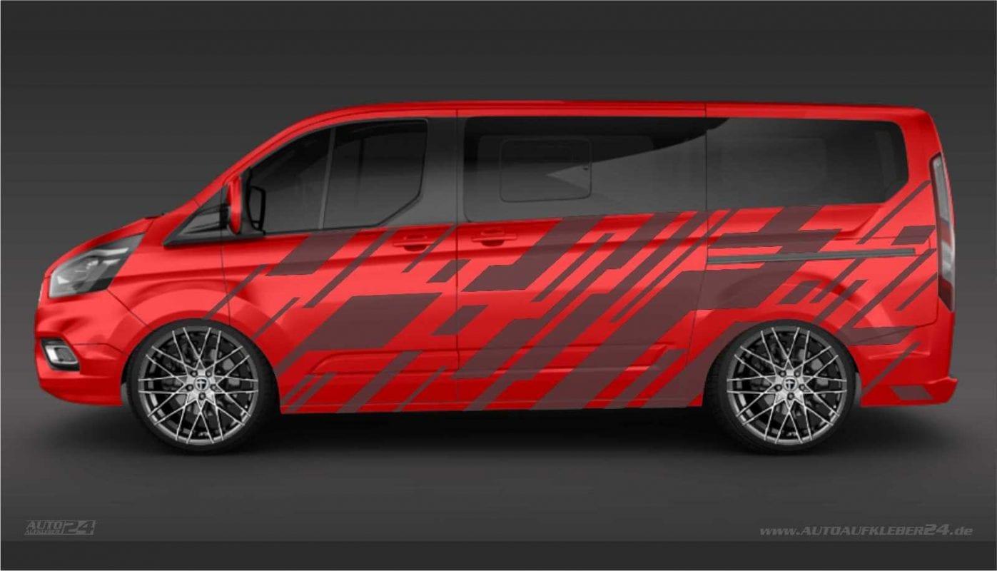 Geometrie Design #017 - Aufkleber / Seitenaufkleber / Autoaufkleber - Ford Transit