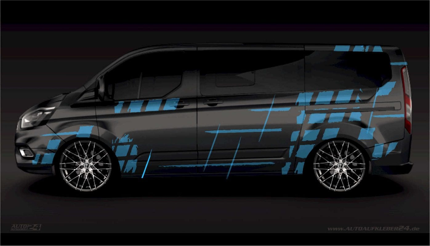 Brush Design #012 - Aufkleber / Seitenaufkleber / Autoaufkleber - Ford Transit