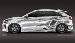Autoaufkleber Kia PRO Ceed XCeed Carwrap Foliendesign