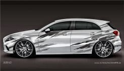 Autoaufkleber Mercedes Aklasse CKlasse Aufkleber Carwrap