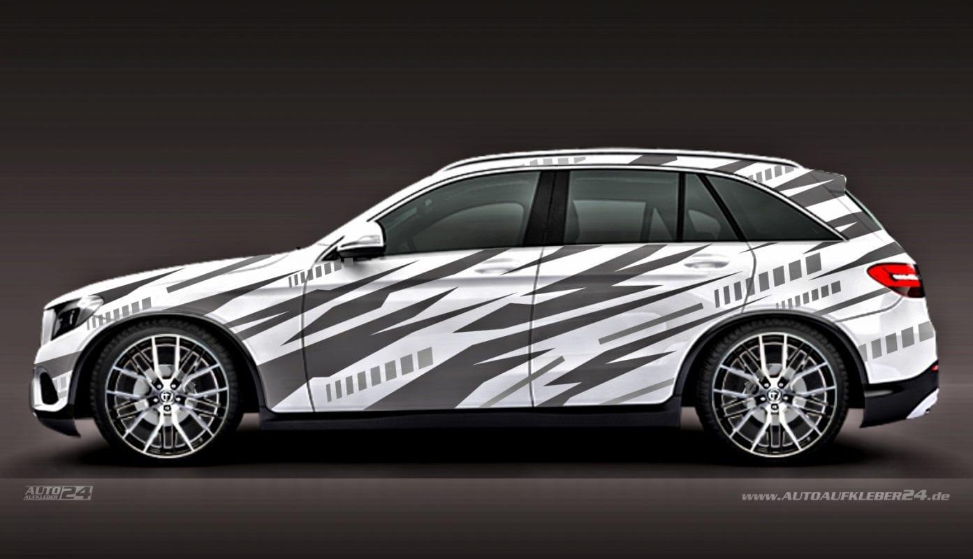 Geometrie Design #036 - Aufkleber / Seitenaufkleber / Autoaufkleber SUV Mercedes MB AMG GLC GLE GLA Tuning