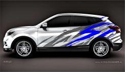 Autoaufkleber Nissan Qashqai Aufkleber Carwrap