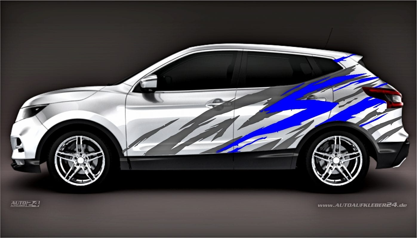 Brush Design #016 - Aufkleber / Seitenaufkleber / Autoaufkleber SUV Nissan Qashqai X-Trail