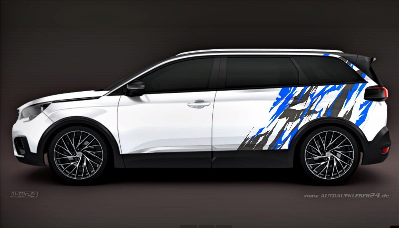 Brush Design #015 - Aufkleber / Seitenaufkleber / Autoaufkleber SUV Peugeot 5008
