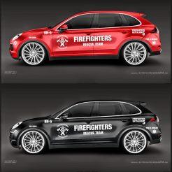 Firefighters - Feuerwehr Autoaufkleber Seitenaufkleber Aufkleber Decalset