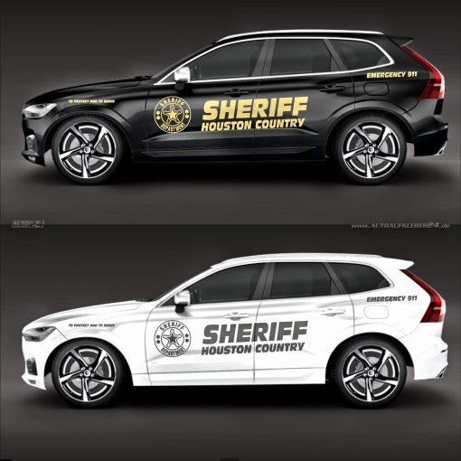 Police / Sheriff Autoaufkleber Seitenaufkleber Aufkleber