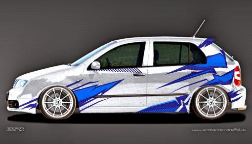 Autoaufkleber Skoda Fabia RS Carwrap Folien