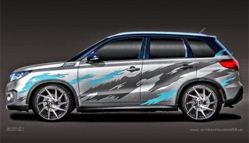 Autoaufkleber Suzuki Vitara SUV Carwrap Folierung SUV