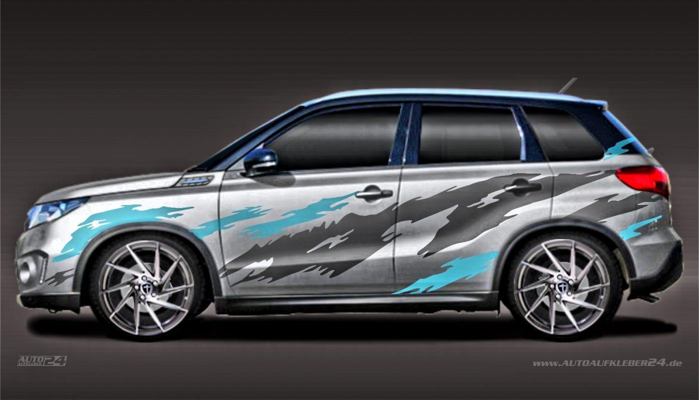 Brush Design #019 - Aufkleber / Seitenaufkleber / Autoaufkleber SUV Suzuki SX4 s-Cross Jimny Vitara