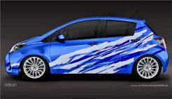 Autoaufkleber Toyota Yaris Aufkleber