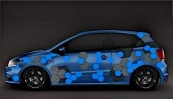 Autoaufkleber Seitenaufkleber Aufkleber Waben Design Carwrap