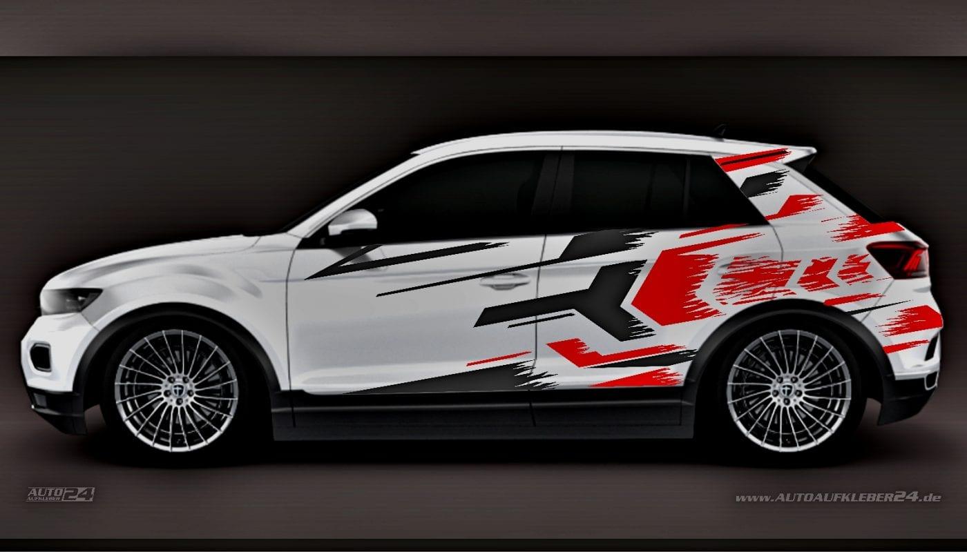 Brush Design #013 - Aufkleber / Seitenaufkleber / Autoaufkleber SUV Volkswagen VW T-Roc T-Cross Tiguan Touareg Amarok