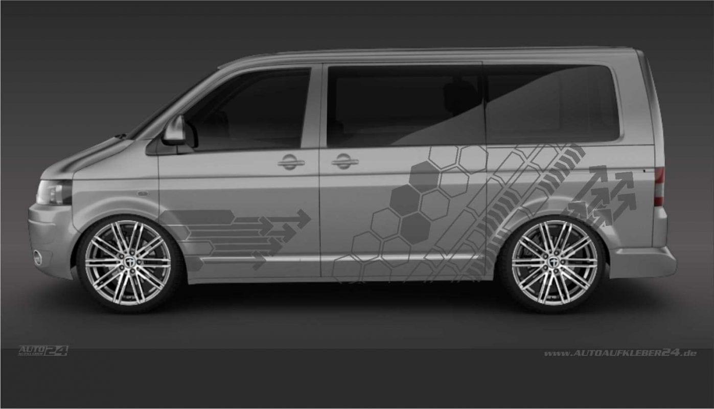 Geometrie Design #003 -Aufkleber / Seitenaufkleber / Autoaufkleber Volkswagen VW Transporter