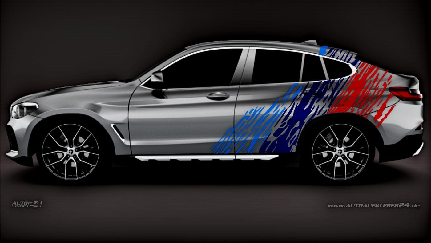 Brush Design #020 - Aufkleber / Seitenaufkleber / Autoaufkleber SUV BMW X1 X2 X3 X4 X5 Tuning