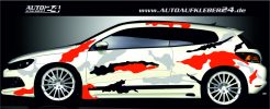 camouflage snow design car wrap