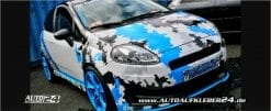camouflage pixel design car wrap
