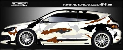 snowcamouflage design car wrap folie