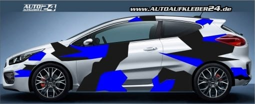 camouflage stealth design car wrap