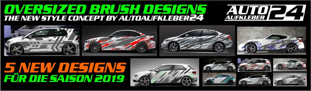 Autoaufkleber Farbkleckse Brush Car Wrapping Design