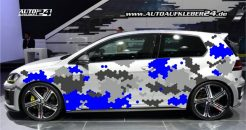 camouflage waben design car wrap