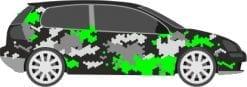 camouflage waben design car wrap