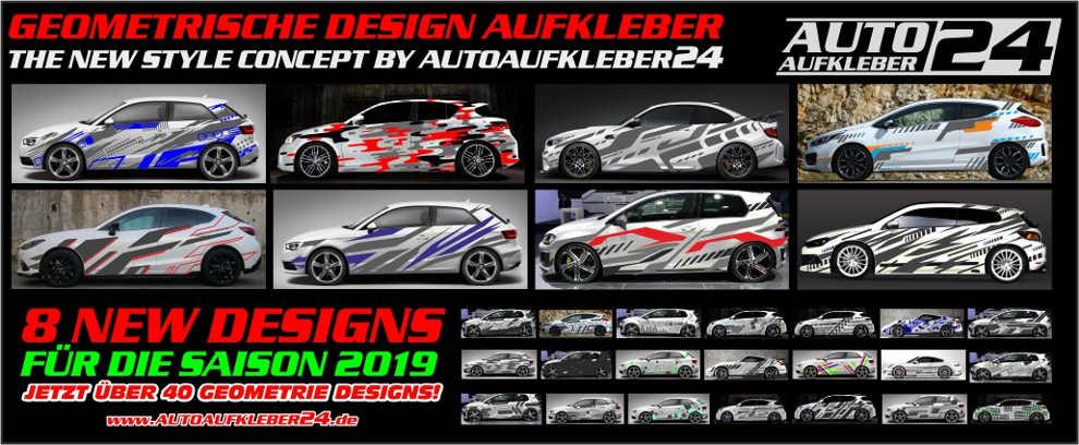 Geometrische Autoaufkleber, geometrie Design, Wabenaufkleber, Auto folieren im Geodesign