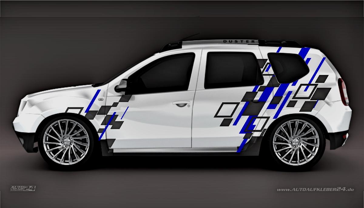 Geometrie Design #048 - Aufkleber / Seitenaufkleber / Autoaufkleber SUV Dacia Duster Sandero