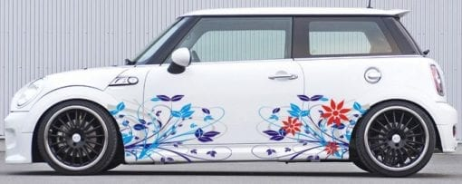 Blumen Flowers Rose Autoaufkleber Aufkleber Seitenaufkleber