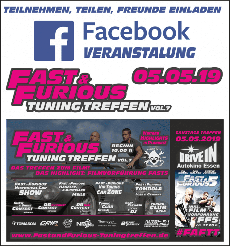 Fast and Furious Tuning Treffen - Mega Event im Autokino Essen