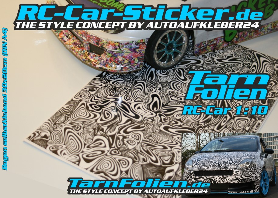 RC CAR Aufkleber Sticker Folien Bögen Design Modellbau