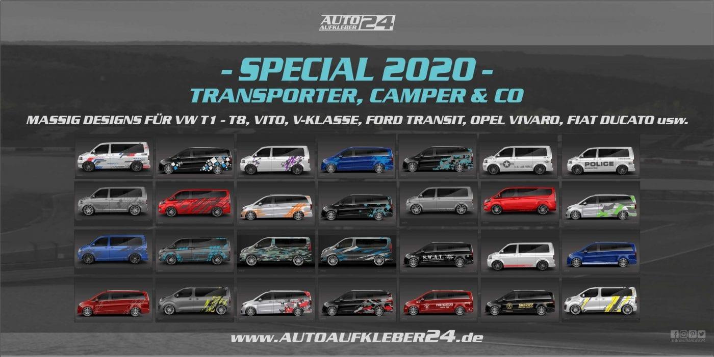 Autoaufkleber für Transporter Vans Wohnmobile Kleintransporter