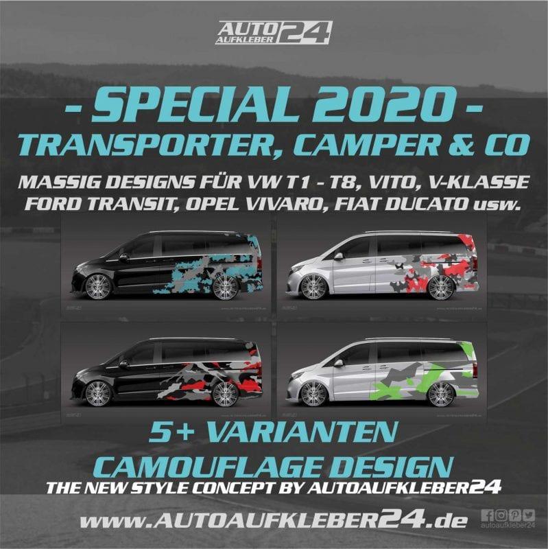 Car Wrap Designs für Transporter Vans Wohnmobile Kleintransporter
