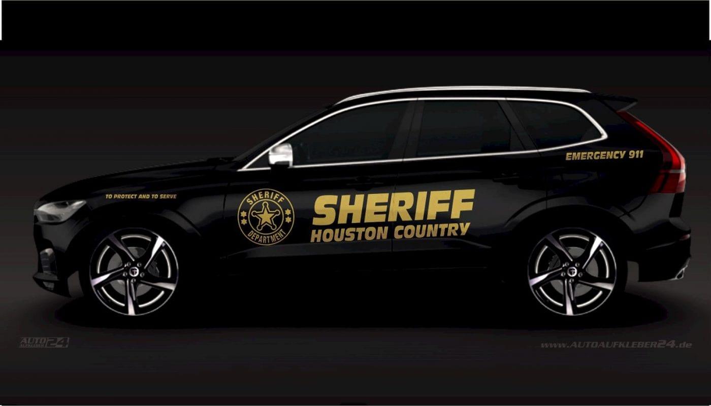 Police Sheriff - Aufkleber / Seitenaufkleber / Autoaufkleber SUV Volvo xc60