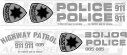 Police car wrap, Police Aufkleber, Police Design, Autoaufkleber, Sticker, Interceptor, 911, Highway Patrol